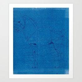 Equine Blueprint Art Print