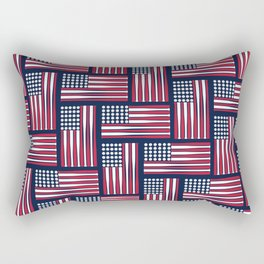 USA Baseball Flag Rectangular Pillow