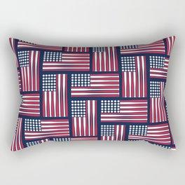 USA Baseball Flag Rectangular Pillow