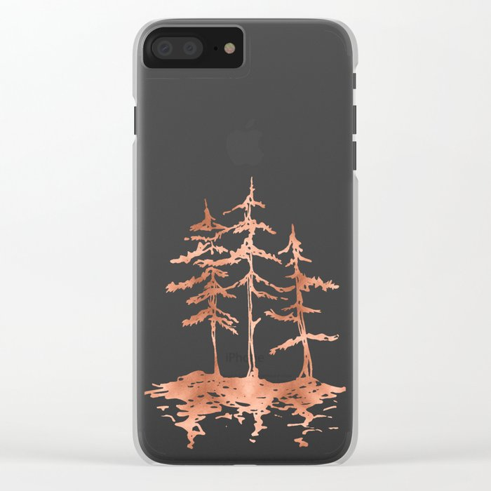 THE THREE SISTERS Trees Rose Gold Clear iPhone Case
