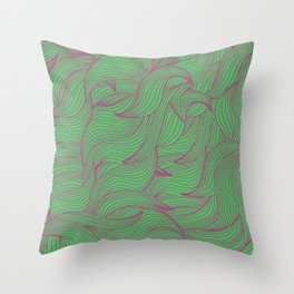 Abstract coorful pattern with leaves Throw Pillow
