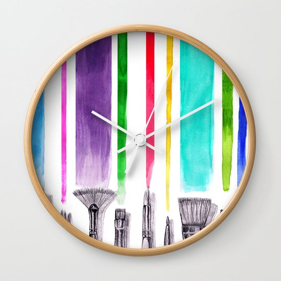 Paint brushes Wall Clock