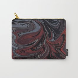 Grey & Red Abstract Painting Carry-All Pouch