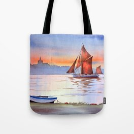 Thames Barge At Maldon England Tote Bag
