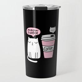 Meow coffee cat Travel Mug