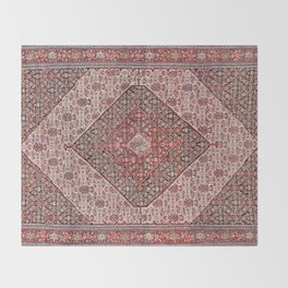 Sehna Antique Kurdish Persian Tribal Rug Throw Blanket