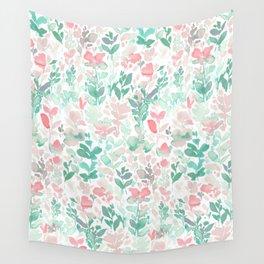 Flirt Mint Blush Wall Tapestry