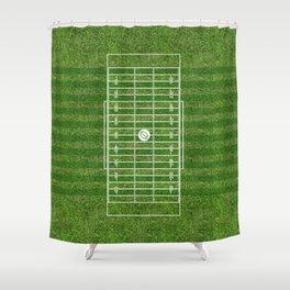 American football field(gridiron) Shower Curtain