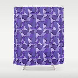Ultra Violet Abstract Waves Shower Curtain