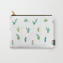 Summer pattern with cacti and yellow cats ! Carry-All Pouch