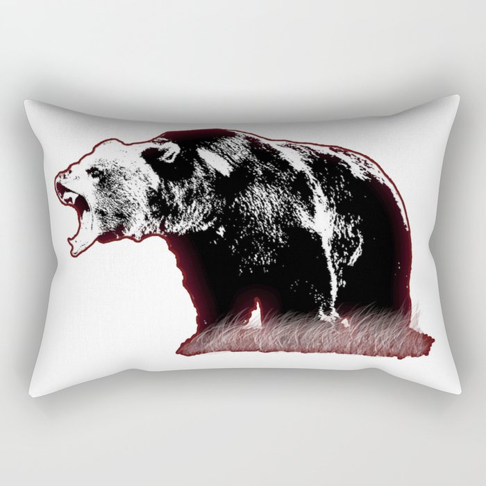 Defensive Bear Rectangular Pillow