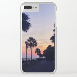 Battery Sunset Clear iPhone Case