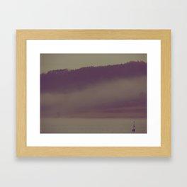 A Buoy Alone Framed Art Print