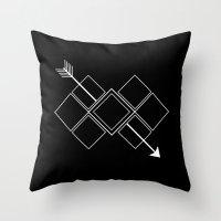 arrow Throw Pillows featuring Arrow by Aonair Designs