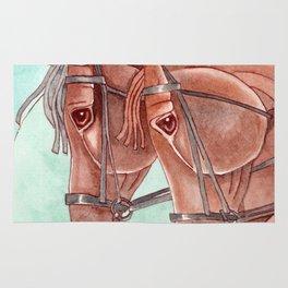 Horses On Fuchsite Moon Rug
