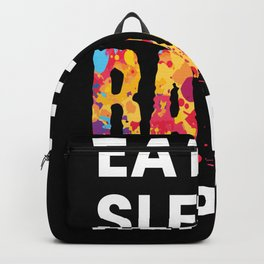 Eat Sleep Rave Repeat Edm Backpack