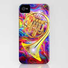 Psychedelic French horn Slim Case iPhone (4, 4s)