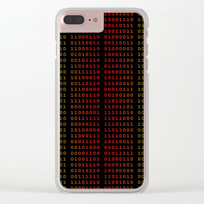 Binary Green and Red With Spaces Clear iPhone Case