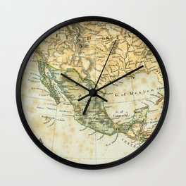 North America Vintage Encyclopedia Map Wall Clock