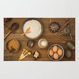 Basic baking ingredients Rug