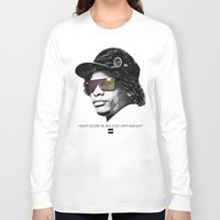 lakers Long Sleeve T-shirts featuring Eazy Muthafuckin E by Rogemil Velasco