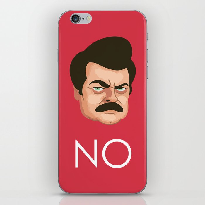 Motivation by Ron Swanson iPhone Skin