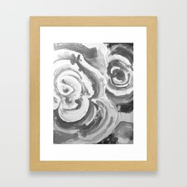 Roses for my sister in grey Framed Art Print