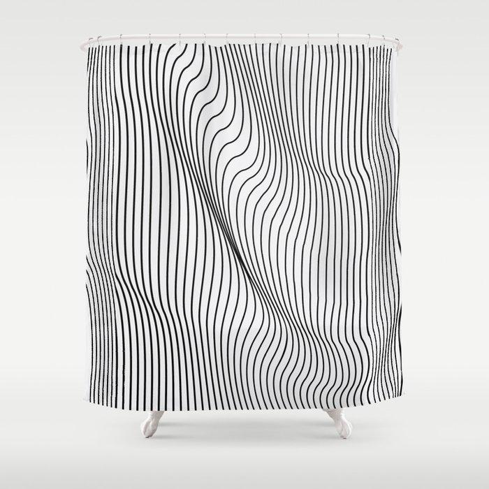 Minimal Curves Shower Curtain