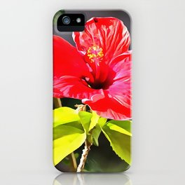 Beautiful Red Tropical Hibiscus Flower iPhone Case
