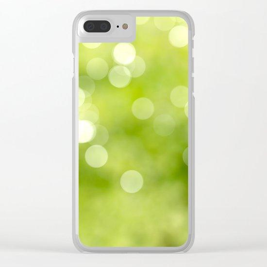 green bokeh Clear iPhone Case