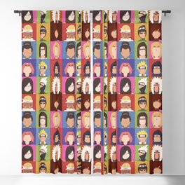 Anime Characters Blackout Curtain