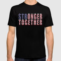 Stronger Together MEDIUM Mens Fitted Tee Black