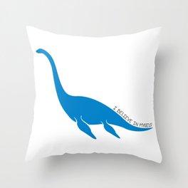 Nessie, I believe! Throw Pillow