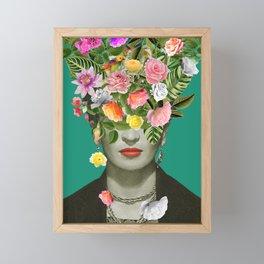 Frida Floral Framed Mini Art Print
