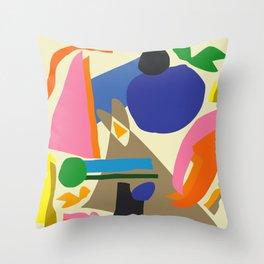 Abstract morning Throw Pillow