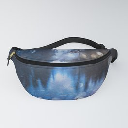 Magical Blue Forest Water Reflection - Nature Photography Fanny Pack