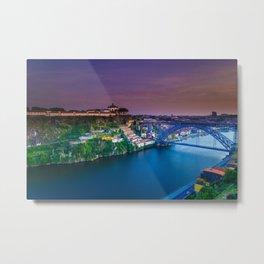 Porto Portugal sunset Metal Print