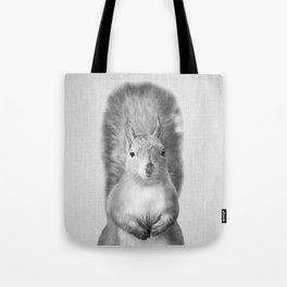 Squirrel - Black & White Tote Bag