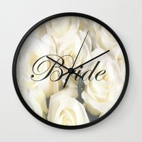 bride Wall Clocks featuring Bride by AE Interiors