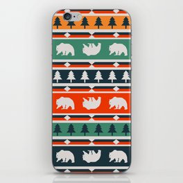 Winter bears and trees iPhone Skin