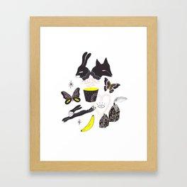 Le Lièvre et le Renard Framed Art Print