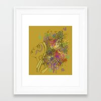 afro Framed Art Prints featuring Afro by KiraTheArtist