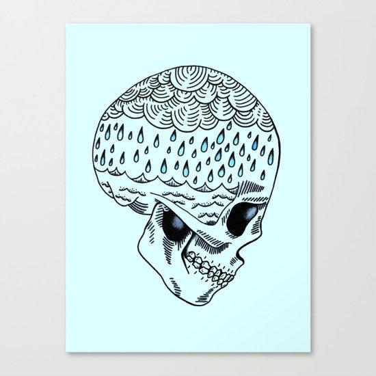 Skull Rain Canvas Print