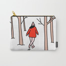 Girl Walking Through the Woods Carry-All Pouch