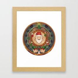 Happy Mayan Holidays Framed Art Print