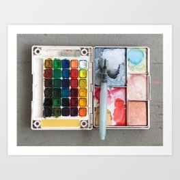 A Sloppy Paintbox is a Happy Paintbox Art Print