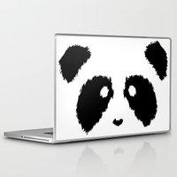 boobs Laptop & iPad Skins featuring Panda Boobs by Lizard Illustration