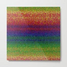 Rainbow Knit Photo Metal Print