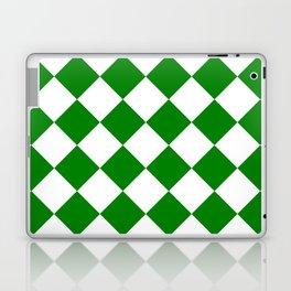 Large Diamonds - White and Green Laptop & iPad Skin