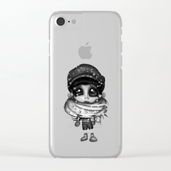 Don't Look Black Clear iPhone Case